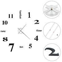 vidaXL 3D стенен часовник, модерен дизайн, 100 см, XXL, черен