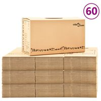 vidaXL Картонени кутии за преместване, XXL, 60 бр, 60x33x34 см