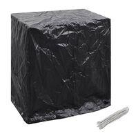 vidaXL Калъф за градинска мебел/тенис маса, 8 капси, 160x55x182 см