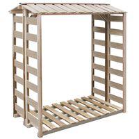 vidaXL Навес за дърва за огрев, 150x90x176 см, импрегниран бор