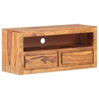 vidaXL ТВ шкаф, 90x30x40 cм, шишамово дърво масив
