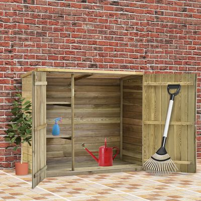 vidaXL Градинска барака за инструменти, 135x60x123 см, импрегниран бор