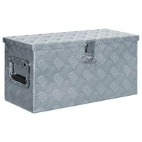vidaXL Алуминиева кутия, 61,5x26,5x30 см, сребриста