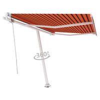 vidaXL Свободностояща автоматична тента, 300x250 см, оранжево/кафяво