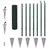 vidaXL Евромрежа, стомана, 10x1,2 м, зелена