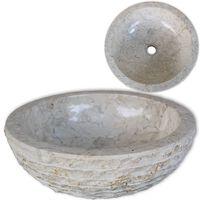 vidaXL Мивка, мрамор, 40 см, кремава