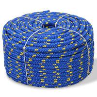 vidaXL Морско въже, полипропилен, 10 мм, 50 м, синьо