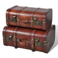 vidaXL Комплект дървени винтидж сандъци, 2 бр