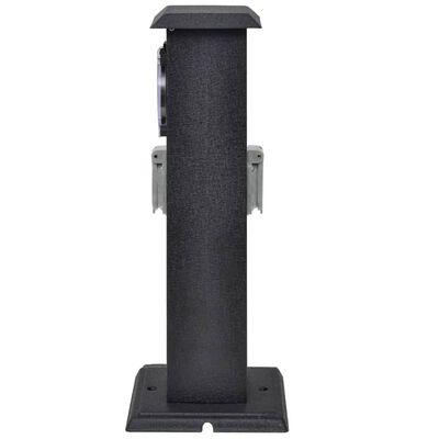 Черна градинска колона с контакт и таймер