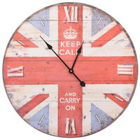 vidaXL Винтидж стенен часовник Великобритания, 60 см