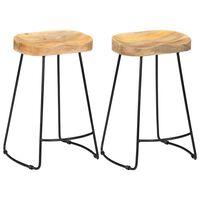 vidaXL Gavin бар столове, 2 бр, мангово дърво масив