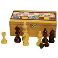 Abbey Game Фигури за шах, 87 мм, черно/бяло, 49CL