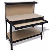 Работна маса с чекмедже и стена за инструменти