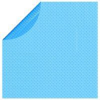 vidaXL Плаващо соларно кръгло покривало за басейн, PE, 381 см, синьо