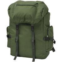 vidaXL Раница, войнишки стил, 65 л, зелена