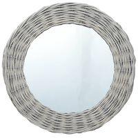 vidaXL Огледало, 70 см, ракита