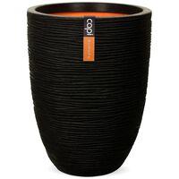 Capi Кашпа Nature Rib, елегантна, ниска, 36x47 см, черна, KBLR782