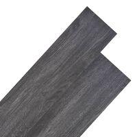 vidaXL PVC подови дъски 4,46 м² 3 мм черни