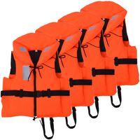 vidaXL Спасителни жилетки, 4 бр, 100 N, 30-40 кг