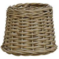 vidaXL Абажур, плетена ракита, 25x17 см, кафяв