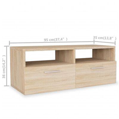 vidaXL ТВ шкаф, ПДЧ, 95x35x36 см, дъб
