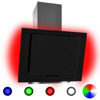 vidaXL RGB абсорбатор, LED, 60 см, инокс и закалено стъкло