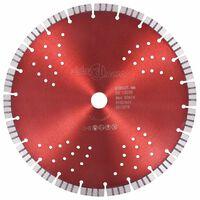 vidaXL Диамантен режещ диск с турбо и отвори, стомана, 300 мм