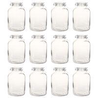 vidaXL Стъклени буркани за сладко със заключващ механизъм, 12 бр, 5 л