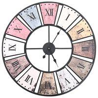 vidaXL Винтидж стенен кварцов часовник, 60 см, XXL