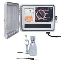 vidaXL Градински контролер за поливане със сензор за дъжд