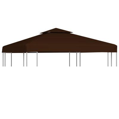 vidaXL Двоен покрив за шатра, 310 г/м², 3x3 м, кафяв
