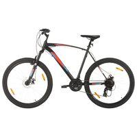 vidaXL Планински велосипед 21 скорости 29 цола 53 см рамка черен