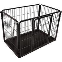 FLAMINGO Клетка за куче Kazan, р-р S, 93x59x64 см, черна