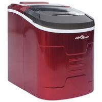 vidaXL Ледогенератор, червен, 2,4 л, 15 кг/24 часа