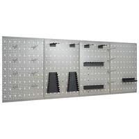 vidaXL Стенни панели за инструменти, 4 бр, 40x58 см, стомана