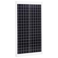 vidaXL Соларен панел, 30 W, поликристален алуминий и защитно стъкло