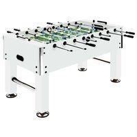 vidaXL Футболна маса джаги, стомана, 60 кг, 140x74,5x87,5 см, бяла