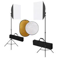 vidaXL Фотографски комплект за студио със софтбокс и рефлектор