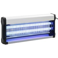 vidaXL Инсектицидна лампа, черна, алуминий, ABS, 40 W