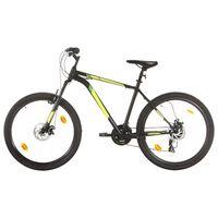 vidaXL Планински велосипед, 21 скорости, 27,5 цола, 50 см, черен