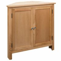 vidaXL Ъглово шкафче, 80x33,5x78 см, дъбов масив