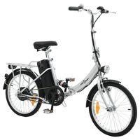 vidaXL Сгъваем електрически велосипед с литиево-йонна батерия алуминий