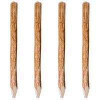 vidaXL Заострени оградни колове, 4 бр, лешниково дърво, 120 см