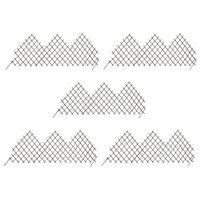 vidaXL Градински огради хармоника, 5 бр, 170x75 см, върба