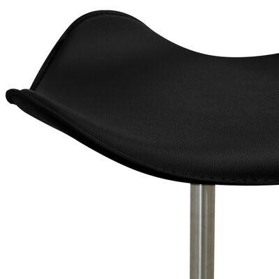 vidaXL Стол за студио за красота, черен, изкуствена кожа
