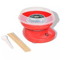 vidaXL Машина за захарен памук, 480 W, червена