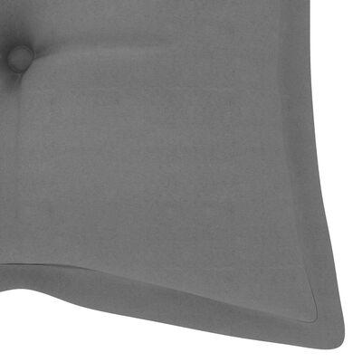 vidaXL Градинска люлка със сиво шалте, 170 см, тик масив