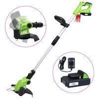 vidaXL Безжичен тример за трева с батерия 20V 1500 mAh Li-ion