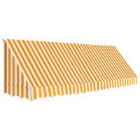 vidaXL Бистро сенник, 400х120 см, оранжево и бяло