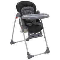 vidaXL Високо бебешко столче за хранене, сиво
